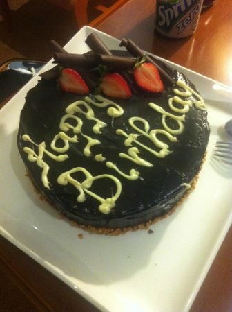 Hilton Cyprus: Birthday cake prepared by the hotel