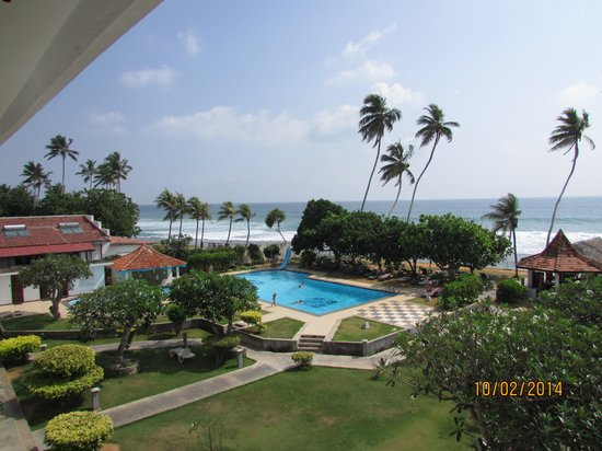 Hotel Lanka Supercorals: Вид из окна отеля