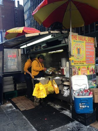 The Halal Guys: Street side w/ Yummy food and great guys