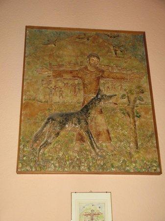 Taverna del Lupo: Altra immagine che racconta l'incontro di San francesco col lupo a Gubbio