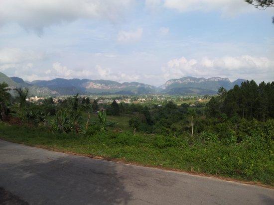 Valle de Vinales : view from casa