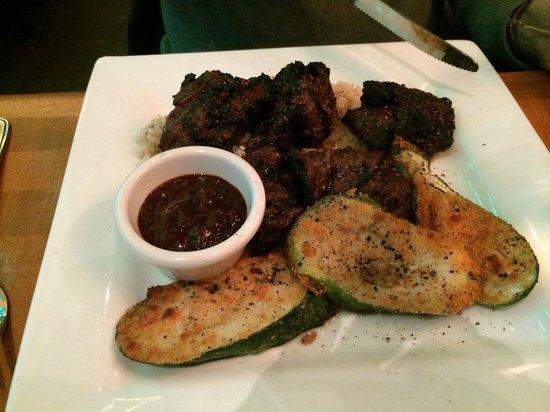 Tavolino: Steak tips with zucchini and risotto