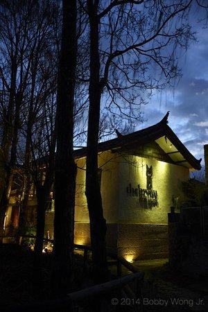 The Bivou: The hotel at dawn