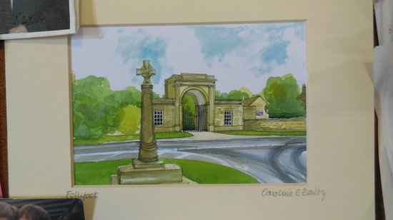 Rudding Gates: Watercolour now on noticeboard