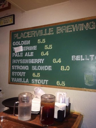 Placerville Brewing Company : House brews