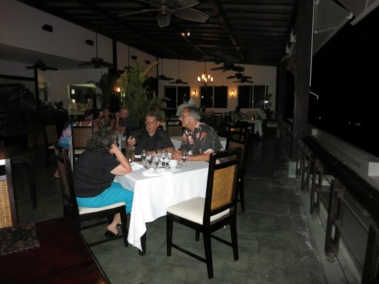 Gaia Hotel & Reserve: dining area all open great view/live music