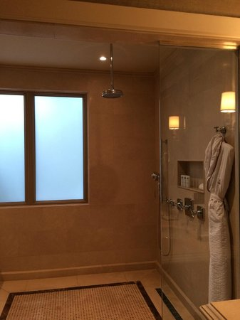 The St. Regis Bahia Beach Resort: Very large shower and bath area