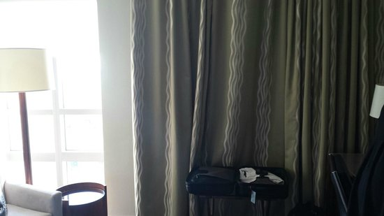 Westin Tampa Bay : Even caves have an opening....the curtain just covers the wall