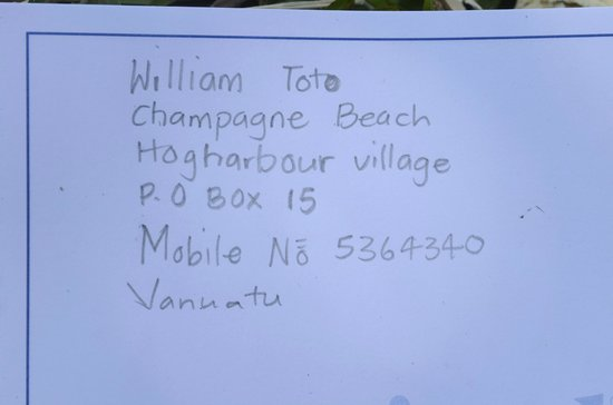 Lonnoc Beach Bungalows: Contact details of William