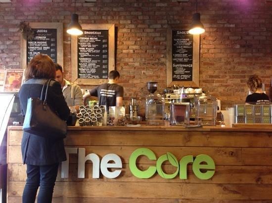 The Core Swindon: menu