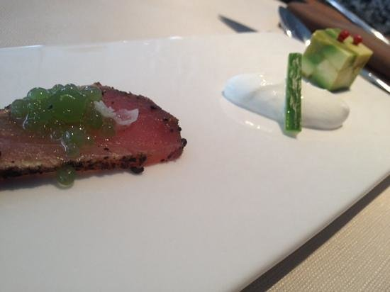 Le Bistrot: thon avocat wasabi