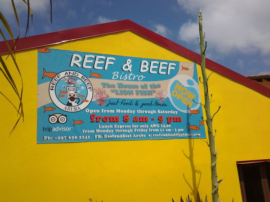 Reef and Beef Aruba: our new banner