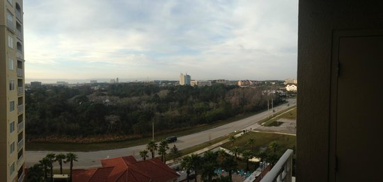 The Point Orlando Resort : Panoramic view from the 8th floor balcony.