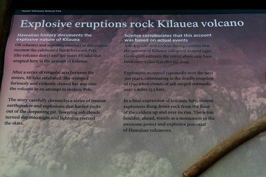 Mt. Kilauea : Kliauea sign