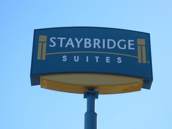 Staybridge Suites Las Vegas: The hotel sign can be read from a distance