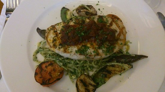 Apartment 1B : I enjoyed their pesto pasta with the grilled blue marlin!