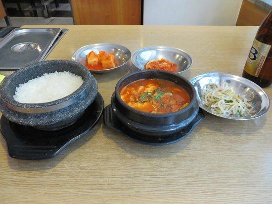 Myoungdong Sundubu : スンドゥブ定食