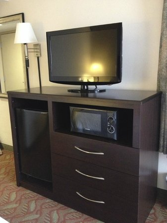 Hampton Inn San Francisco-Airport: TV, fridge, & microwave