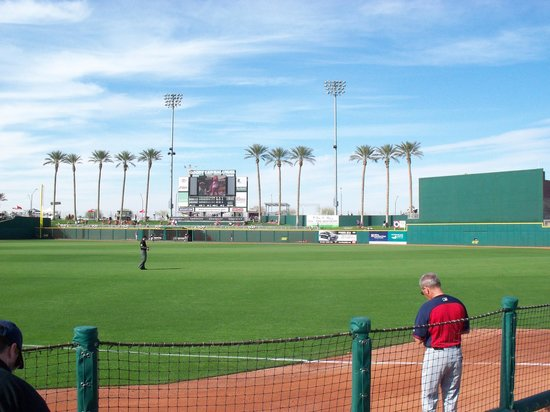Goodyear Ballpark: View from our Seats Section 121 Row D