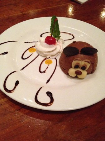 John's of Times Square: The chocolate rabbit dessert - so cute and so yum!
