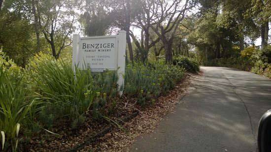 The Benziger Family Winery: entrance