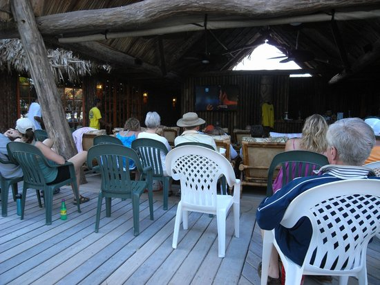 Ramon's Village Resort : Small bar area with more chairs brought in for Superbowl