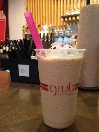 Grub Burger Bar: Nutella shake at the bar.