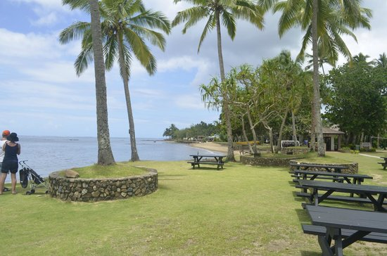 Naviti Resort : Looking to the west from the Restaurant area