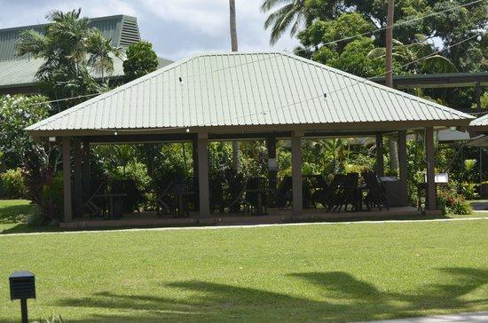 Naviti Resort : One of the new dining pavillions