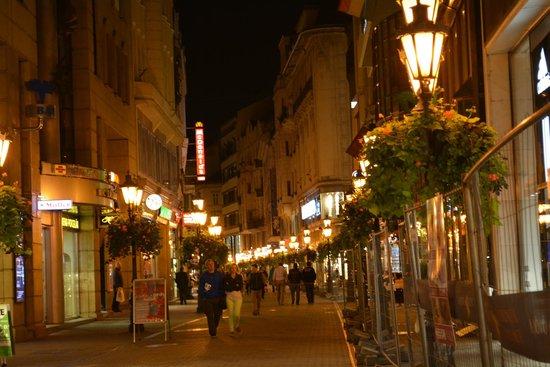 Vaci Street : 夜の灯