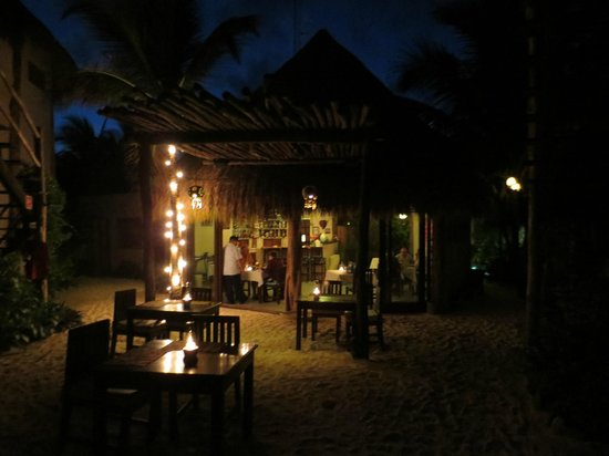 Encantada Tulum : Evening dining at Encantada, very private