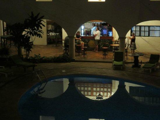 El Meson del Marques : view to pool bar