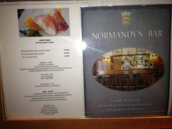 Normandy Hotel: Bar