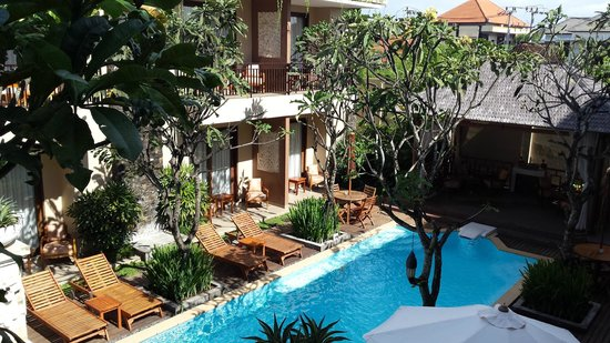 D'Penjor Seminyak : view from balcony on second floor