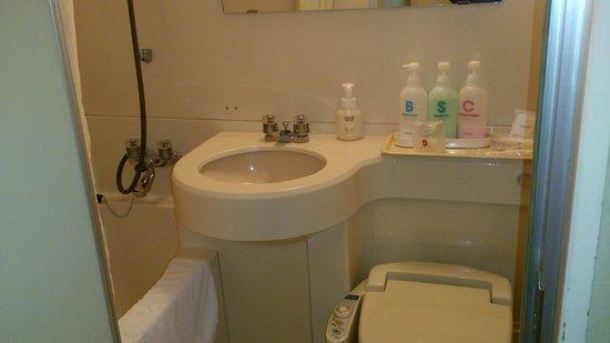 Hotel Sunroute New Sapporo: バスルームは標準的なサイズ