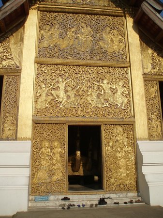Vat Xienthong (Wat Xieng Thong): Entrance to Funerary Carriage Hall
