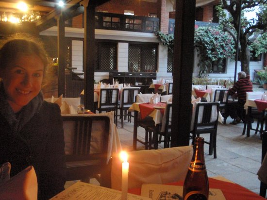 Thamel House Restaurant : The view from our table