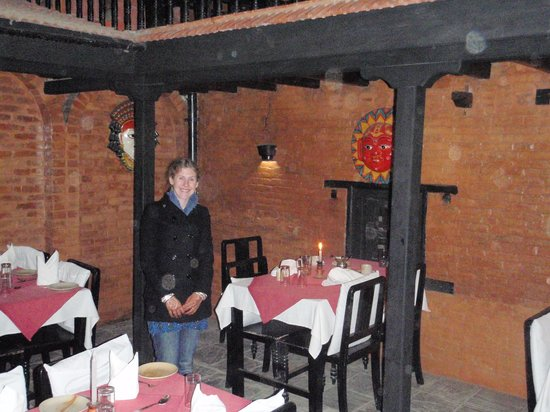 Thamel House Restaurant : Our table