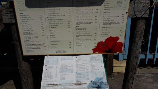 Black Grouper Restaurant: Outside menu.