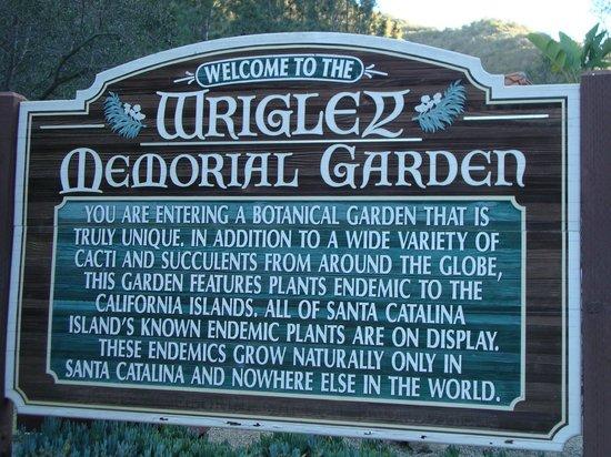Entry Gate Picture Of Wrigley Memorial Botanic Garden Avalon Tripadvisor
