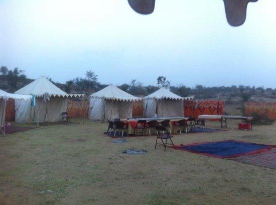Princess Trails Farm: Zeltlager während der Reitsafari