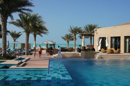 The St. Regis Saadiyat Island Resort: Family pool area, with direct access to the beach