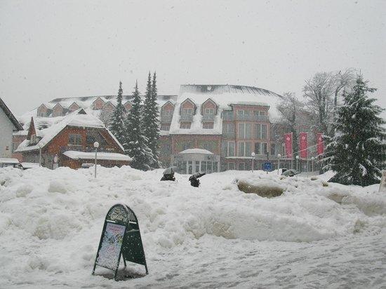 Ramada Hotel and Suites Kranjska Gora: Hotel in a snow storm