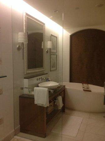 The St. Regis Saadiyat Island Resort: I loved the bath tub.. Can work as a jacuzzi too.