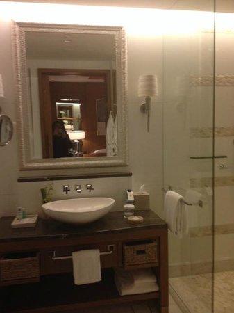 The St. Regis Saadiyat Island Resort: Bathroom very nice..