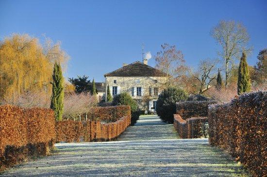 Moulin de Labique : Le parc en hiver