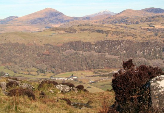 Mountain View B & B: View from Moel y Gest