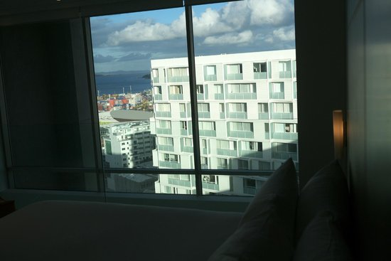 Pullman Auckland: View from top floor bedroom.