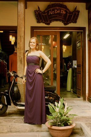 Aobaba Tailor: Evening gown with silk lining