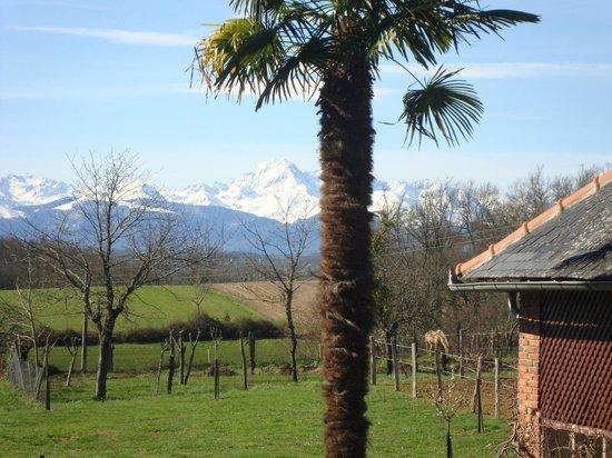Bonnefont, Prancis: la vue face aux Pyrénées